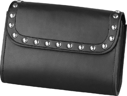 Raider Studded Waterproof Leather Windshield (Harley Leather Bags)