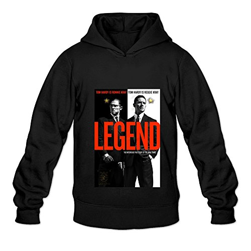 Men's Legend Movie Tom Hardy Cruise Hooded Sweatshirt Size L Black