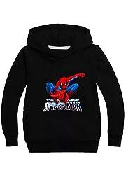KK-Jim Kids Spider-Man Hoodie Sweatshirts-Marvel Superhero Pullover Hooded Tops for Boys Girls