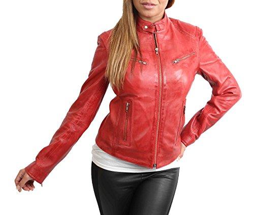 Blouson Femme Red Fashion Longues A1 Rouge Goods Manches Biker Ex1T6qYC