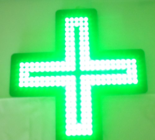 420 Green Cross Medical Cannabis Marijuana Pharmacy LED Light Shop Sign (with Wireless remote control)
