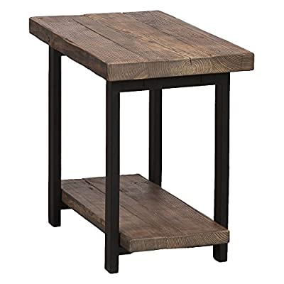 Alaterre Pomona Rustic End Table - Natural - Dimensions: 27W x 17D x 27H in. Metal and wood construction Choose from available finishes - living-room-furniture, living-room, end-tables - 41J4%2B67j5LL. SS400  -