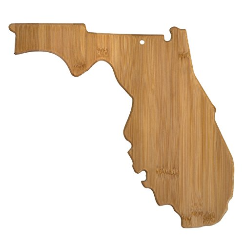 Totally Bamboo 20-7964FL Florida State Shaped Bamboo Serving & Cutting Board, (Best Gifts From Florida)
