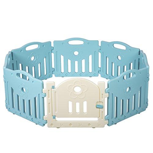 Baby Playpen 8 Panel Playard Kids PlaySafe Activity Center W/Locked Door Review