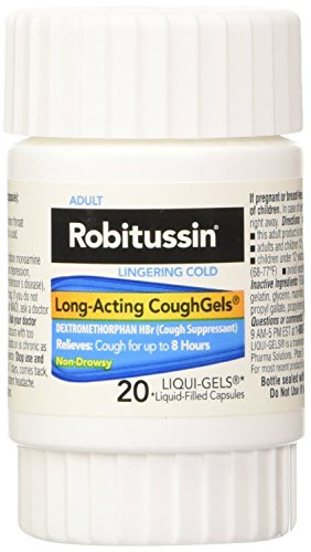 - Robitussin Lingering Cold Long-Acting Cough Gels, 20 Count