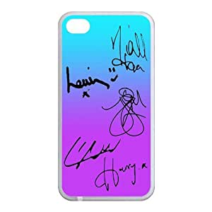 One Direction Signature Back Case Cover For Apple iPhone 4 4S (Silicone Rubber)