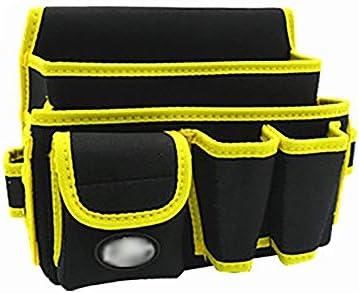 ツールベルト 耐摩耗多機能ウエストツールベルトのツールオーガナイザーバッグについて電気大工配管工グリーンブラック 大工のエプロン (Color : Black, Size : 28x14x19.5cm)