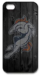 LZHCASE Personalized Protective Case for iPhone 5 - NFL Denver Broncos in Wood Background