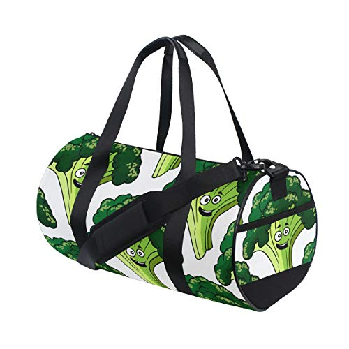 (Totes Useful Little Green Broccoli Pretty Health Day Duffel Functional Sports Duffel Bags For Gym Rats Boy Fitness Duffel Workout Trip College Dufflebag)
