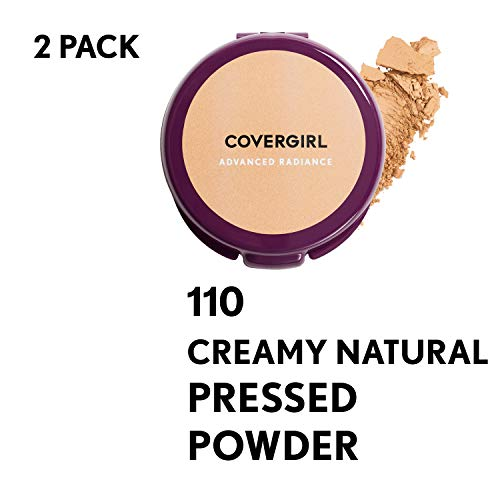 Covergirl Advanced Radiance Age-defying Creamy Pressed Powder, Natural Tone, 2 Count, Creamy Natural ()