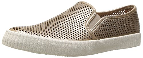 FRYE Women's Camille Perf Slip Fashion Sneaker, Gold, 10 M US