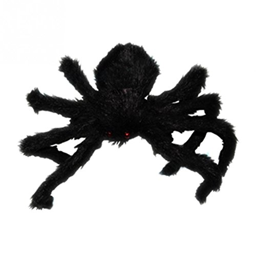 Sotijobs Large Hairy Poseable Black Spider ~ Halloween Decoration & Prop