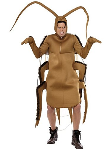 Smiffy's Men's Cockroach Costume, Bodysuit with Sleeves, Funny Side, Serious Fun, One Size, (Cockroach Costume Halloween)