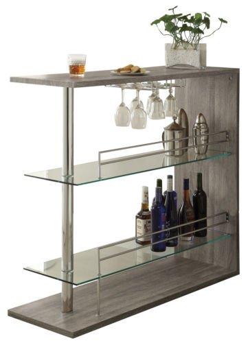 Liquor Bar Wine Home Storage Unit Rack Table Bottle Drink Shelf Pub  Furniture