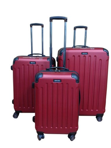 Kenneth Cole Reaction Roll - Kenneth Cole Reaction Renegade Hardside ABS Luggage Set (Red)