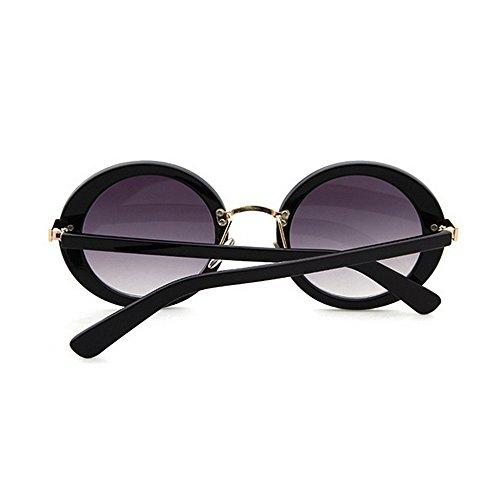 Redondo Completo Remaches C1 para de Conducir de Vacaciones UV Playa Verano Gu Marco Peggy Decoración Sol Protección Gafas de Mujer Color de C3 XqtBInwx