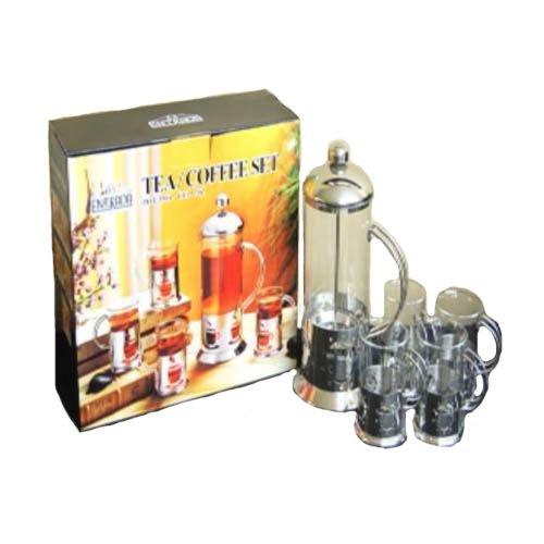 Essential Décor Entrada Collection EN6164 5-Piece Coffee Press Set For Sale