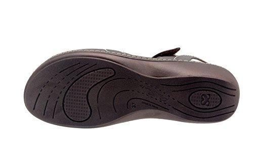 ... Calzado mujer confort de piel Piesanto 8801 sandalia velcro plantilla  extraíble cómodo ancho Taupe ... d19dfea5b49