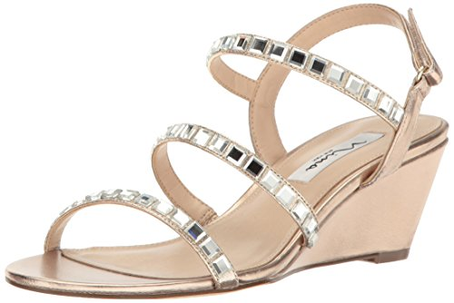 Nina Women Naleigh Wedge Sandal Fy-a- Blushtaupe