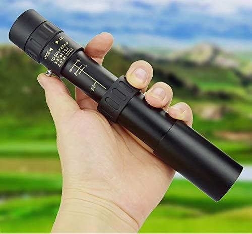 Telescopio monocular para teléfono inteligente, 4K 10-300X40mm telescopio monocular con zoom telefoto con trípode y soporte para teléfono celular para senderismo, camping, caza, observación de aves