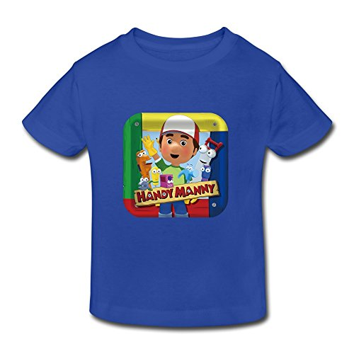 Price comparison product image Boys' Girls' (age 2-6) Handy Manny Comedy Cotton T Shirt 4 Toddler RoyalBlue