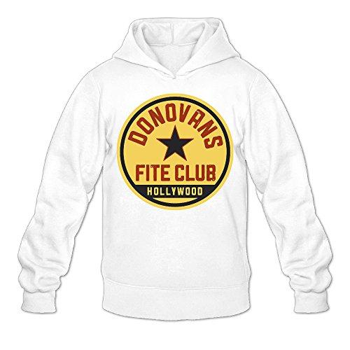 QK Ray Donovan Fite Club Men's Cool Hooded Sweatshirt XL White