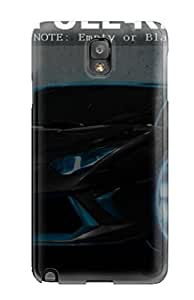 Galaxy Note 3 Hard Back With Bumper Silicone Gel Tpu Case Cover Black Tron Sport Car