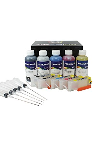 Kit Cartuchos Recargables Serie PGI-550/CLI-551 + ML Tinta ...