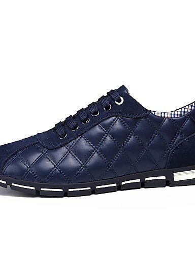 Ei&iLI Zapatos de Hombre - Sneakers a la Moda - Casual - Semicuero - Negro / Azul / Marrón / Bermellón , burgundy , us9.5 / eu42 / uk8.5 / cn43 Burgundy