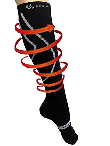 Compression Knees Silver 5% Athletic Edema Socks