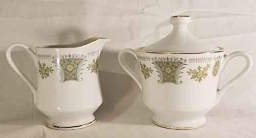 Everbrite Fleurette Pattern Creamer and Sugar Bowl