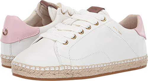 Coach Women's C101 Low Top Espadrille White/Petal Leather 5.5 M ()