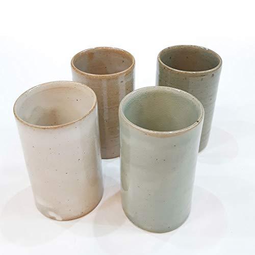MINSEUNGKI Handmade Ceramic Tea Cup Set Korean Pottery 7 oz Korean Chinese Kungfu Teaset