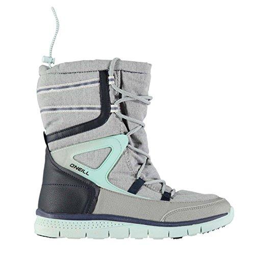 Oneill Mujer Zephyr Melee Botas Nieve Invierno Cordones Textura Paneles Zapatos Gris claro 5 (38)