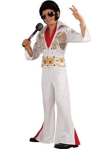 [Deluxe Elvis Costume - Medium] (White Elvis Costumes)
