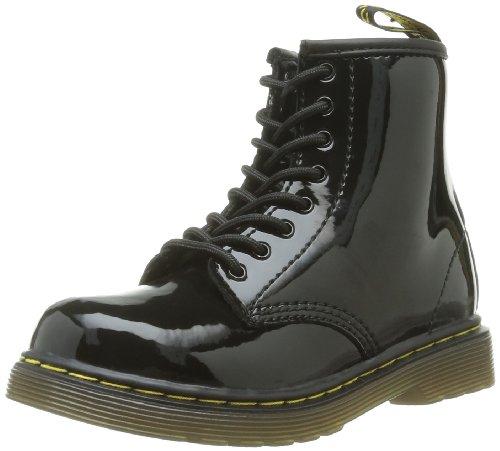 Black Patent Boots For Girls (Dr. Martens Brooklee Boot (Toddler),Black Patent Lamper,7 UK (8 M US)