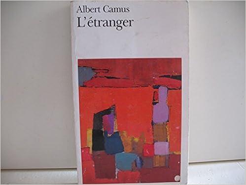 a602dd9f9c1 L ETRANGER  Albert CAMUS  9782070360024  Amazon.com  Books