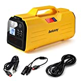 Aeiusny Solar Portable Generator, 293Wh Portable UPS 400W for Home Camping CPAP Emergency Backup Solar Charger Charged by Solar Panel/Wall Outlet/Car (Yellow)