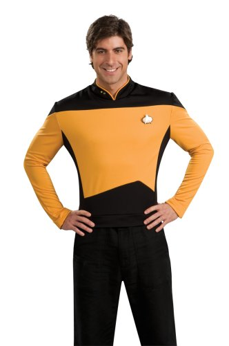 Star Trek the Next Generation Deluxe Gold Shirt, Adult XL Costume ()
