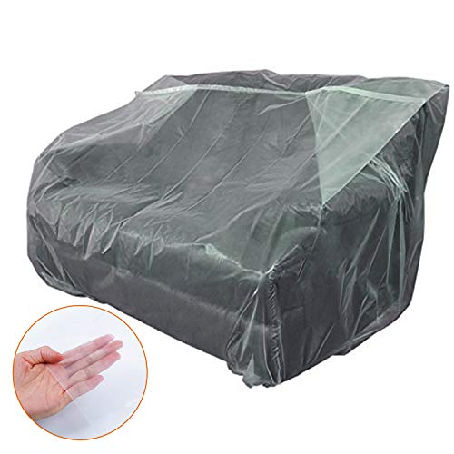 STARTWO Furniture Cover Plastic Bag Plastic Couch Cover Heavy Duty Water Resistant Thick Clear | Sofa Slipover for Moving and Long Term Storage (Moving Sofa Cover)