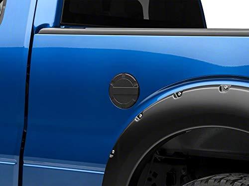 Modern Billet Striker Style Billet Non-Locking Fuel Door - Flat Black - for Ford F-150 Styleside 2009-2014