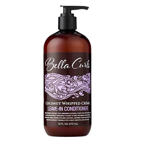 Bella Curls Coconut Whipped Creme Leave-In Conditioner, 16 Ounces