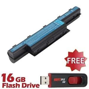 Battpit Bateria de repuesto para portátiles Acer Aspire V3-771-6882 (6600mah / 71wh) Con memoria USB de 16GB GRATUITA
