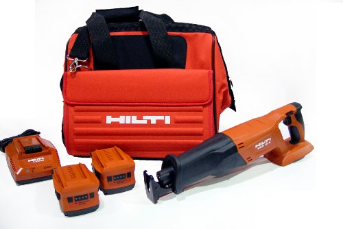 Hilti 03467882 WSR 18-A CPC Reciprocating Cordless Saw Package with Impact Resistant Case