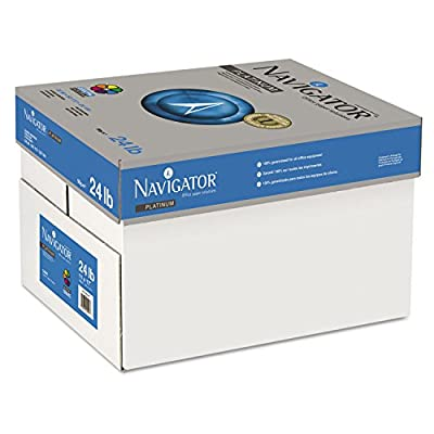Navigator NPL1724 Platinum Paper, 99 Brightness, 24lb, 11 X 17, White, 2500/carton