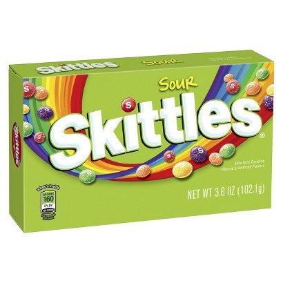 Sour Skittles Bite - Sour Skittles (3.5 Oz.) Box, Bite Sized Fruit Flavored Candy