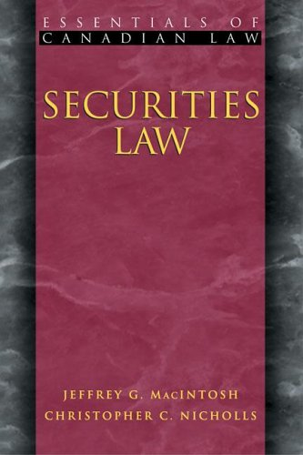 Free Securities Law (Essentials of Canadian Law) [P.P.T]