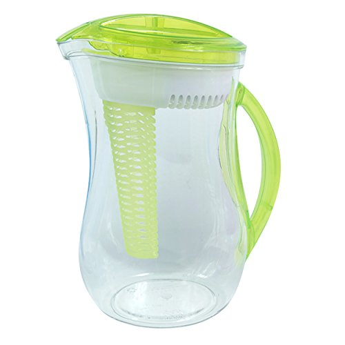 Cool Gear Infusion Pitcher with Water Filter, 2.44 L, Green