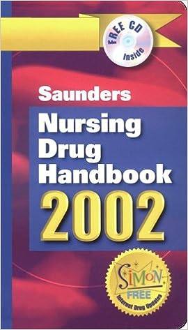 Kostenloser Download von Büchern als PDF Saunders Nursing Drug Handbook 2002 ePub 0721693717
