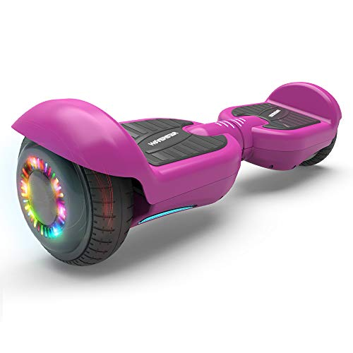 """Hoverstar All-New HS2.0 Hoverboard 6.5"""" Two-Wheel Self Balancing Flash Wheel Electric Scooter (Purple)"""